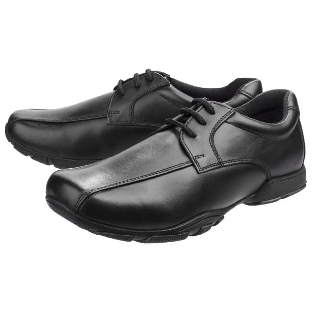 Hush Puppies Vincente Boys Back to School Shoe-BLACK