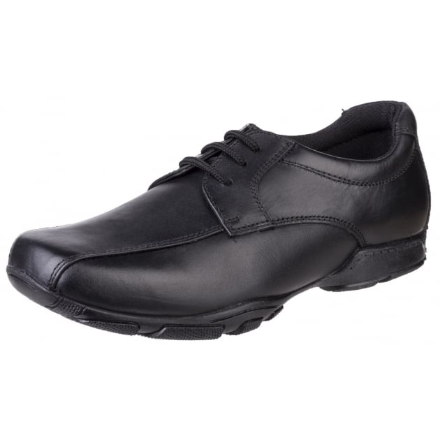 Hush Puppies Vincente Senior Boys Back to School Shoe-BLACK