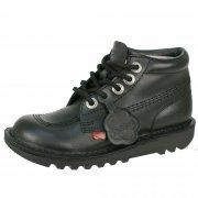 Kickers Kick Hi Core Jnr Black Leather
