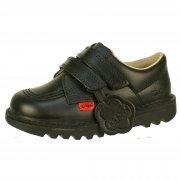 Kickers Kick Lo Vel Core Infants Black Leather Boys