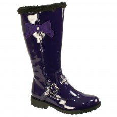 Lelli Kelly Millie Lk5808 Purple Patent Girls Boots