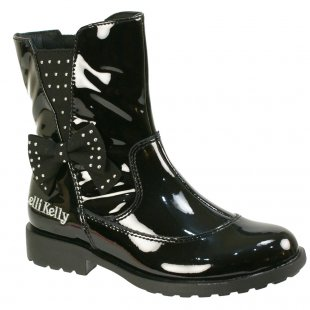 Lelli Kelly Pollie 5816 Black Patent Girls Boots
