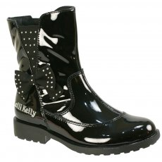 Lelli Kelly Pollie 5816 Black Patent Girls Boots