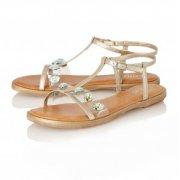 Lotus Rimini Light Gold/Metallic Sandals