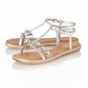 Lotus Rimini Pewter Metallic Sandals