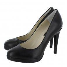 Marta Jonsson 2103 Court Shoe Black Leather Shoes