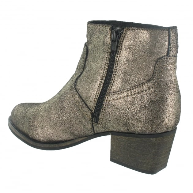 Marta Jonsson Ankle Boot With A 5054L Gold Boots