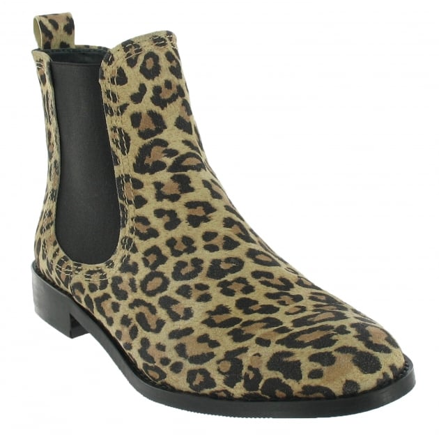 Marta Jonsson Ankle Boot With A Golden Stud 3913S Leopard Boots