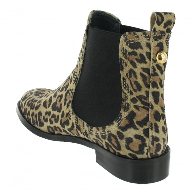 Marta Jonsson Ankle Boot With A Golden Stud 3913S Leopard