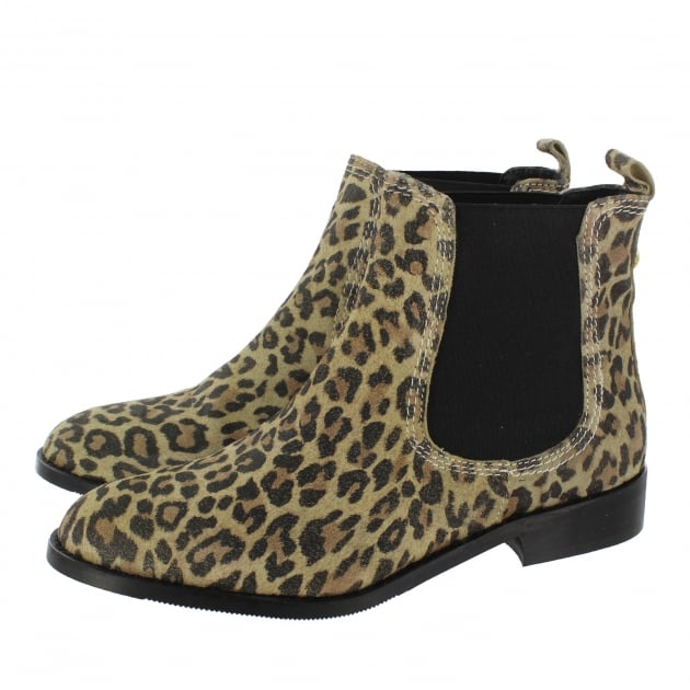 Ankle Boot With A Golden Stud 3913S Leopard