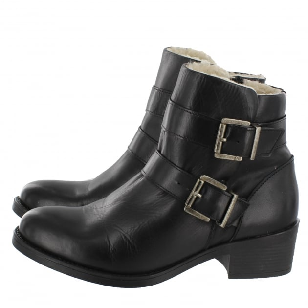 Marta Jonsson Ankle Boot With Buckles 3544L Black Boots