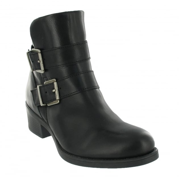 Marta Jonsson Ankle Boot With Buckles 3544L Black