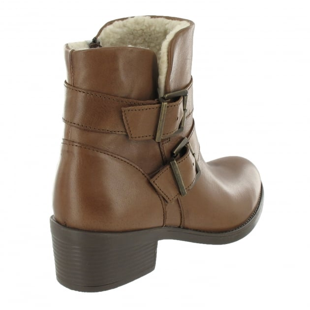 Marta Jonsson Ankle Boot With Buckles 3544L Brown Boots