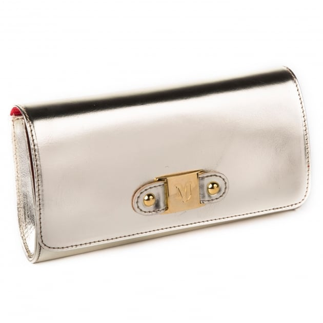 Marta Jonsson Clutch Bag With Mj Detail 8124L Gold