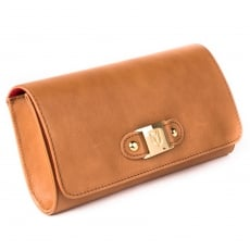 Marta Jonsson Clutch Bag With Mj Detail 8124L Tan