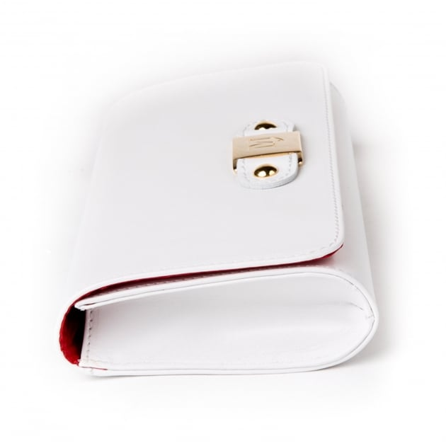 Marta Jonsson Clutch Bag With Mj Detail 8124L White