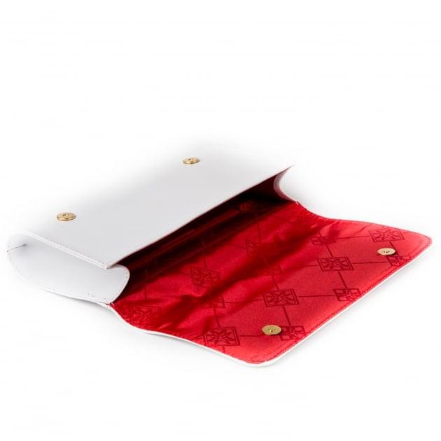 Marta Jonsson Clutch Bag With Mj Detail 8124L White