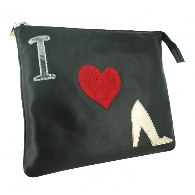Clutch Bag With Pictures 8467L Black