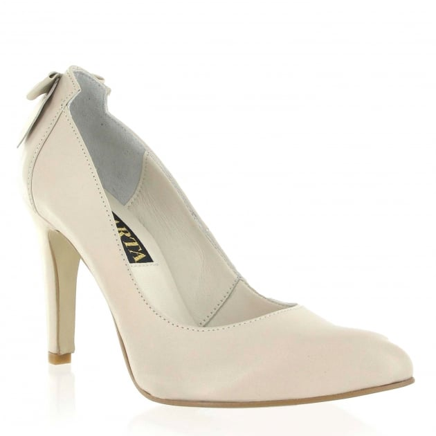 Marta Jonsson Court Shoe With Bow Detail 8460L Beige