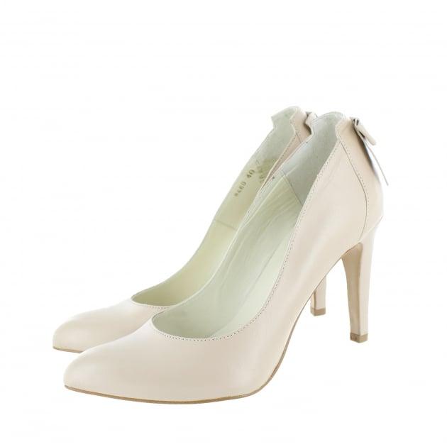 Marta Jonsson Court Shoe With Bow Detail 8460L Beige Shoes