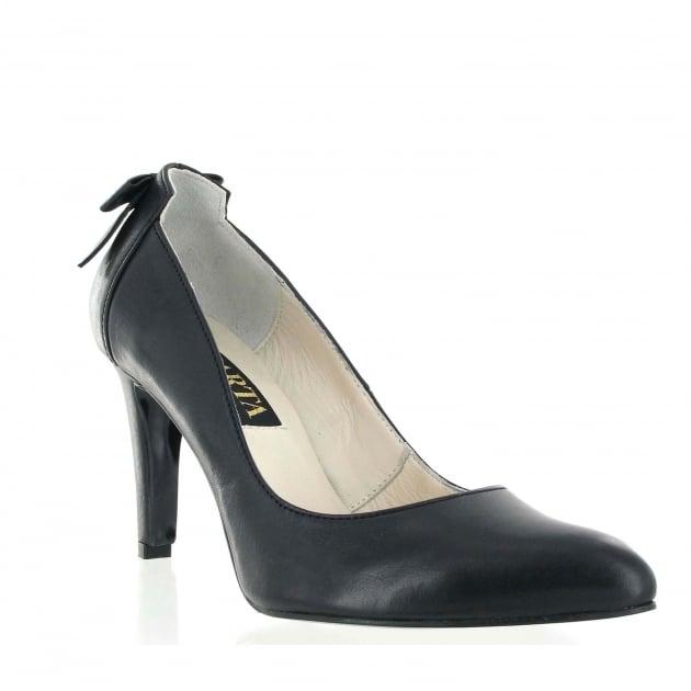 Marta Jonsson Court Shoe With Bow Detail 8460L Black