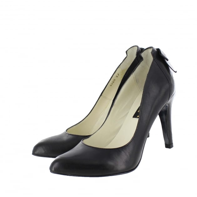 Marta Jonsson Court Shoe With Bow Detail 8460L Black