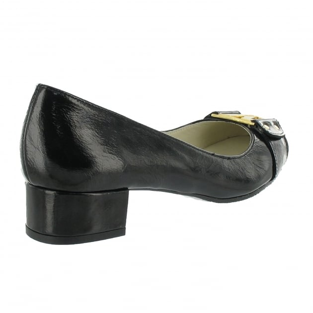 Court Shoe With Gold Mj Detail 2278P Black