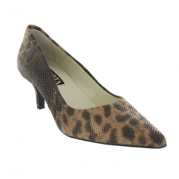 Marta Jonsson Court Shoe With Leopard Print 5061L Brown Shoes