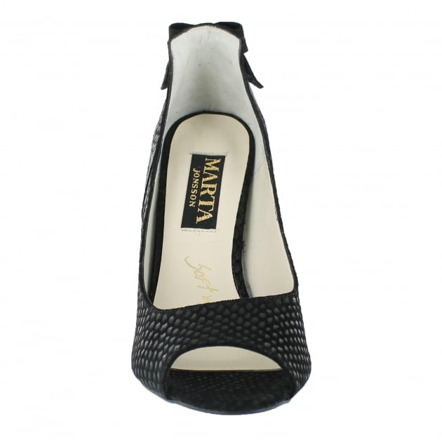 Marta Jonsson Court Shoe With Peep Toe 9007S Black