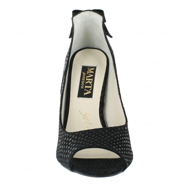 Marta Jonsson Court Shoe With Peep Toe 9007S Black Shoes