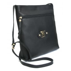 Marta Jonsson Cross Body Bag With Zipper 8356L Black