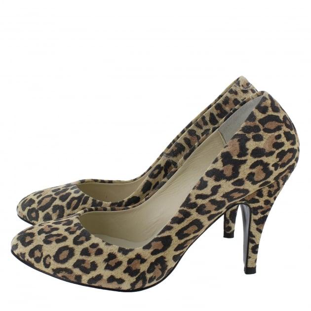 Marta Jonsson High Heeled Court Shoe 8568S Leopard