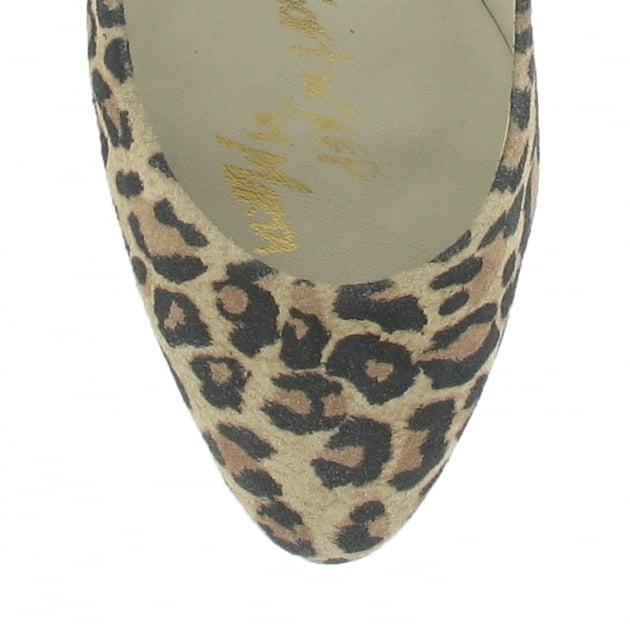 Marta Jonsson High Heeled Court Shoe 8568S Leopard Shoes