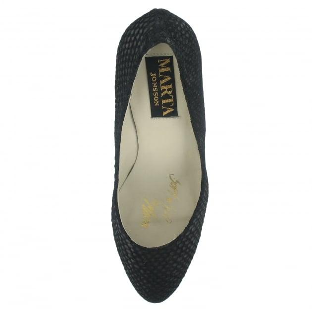 Marta Jonsson High Heeled Court Shoe 8568Sn Black Shoes