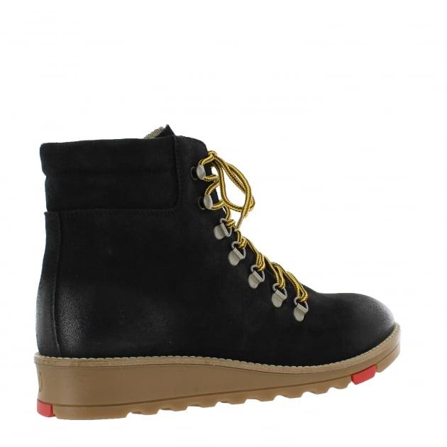 Marta Jonsson Katrin Lace Up Northern Light Black Boots 1381