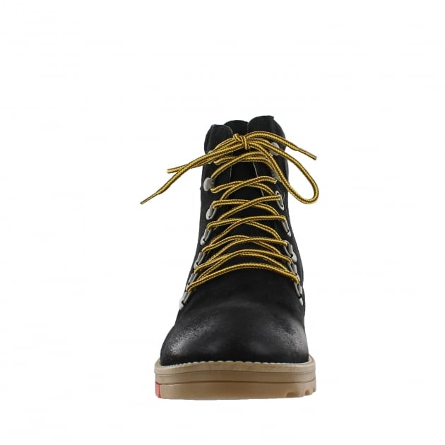 Katrin Lace Up Northern Light Black Boots 1381