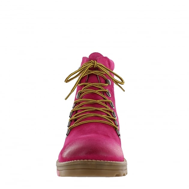 Marta Jonsson Katrin Lace Up Northern Light Fuxia Boots 1381