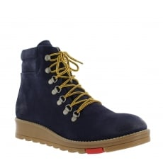Marta Jonsson Katrin Lace Up Northern Light Navy Boots 1381