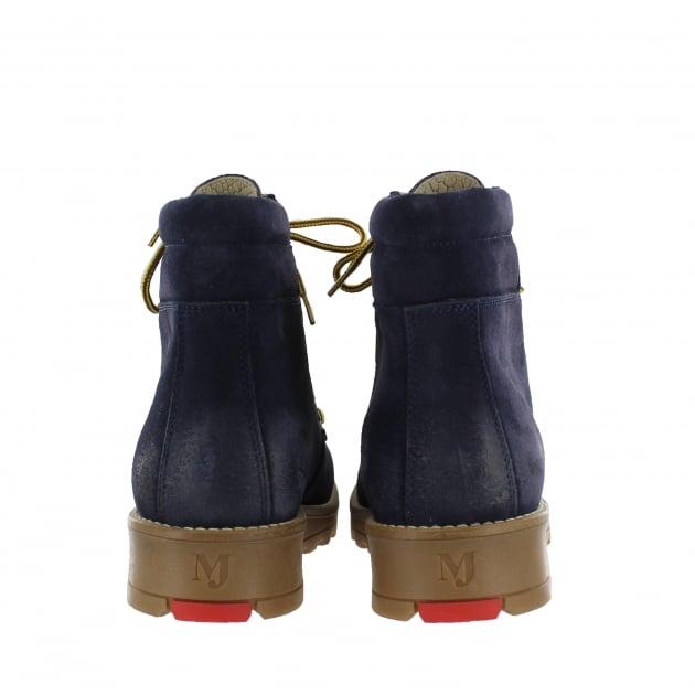 Marta Jonsson Katrin Lace Up Northern Light Navy Boots 1381