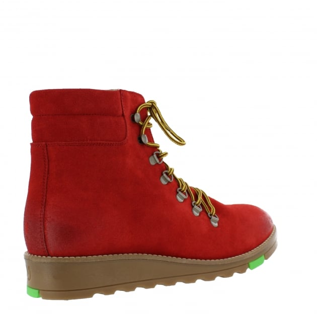 Katrin Lace Up Northern Light Red Boots 1381