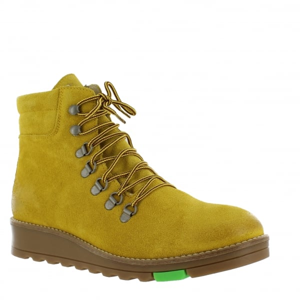 Katrin Lace Up Northern Light Yellow Boots 1381