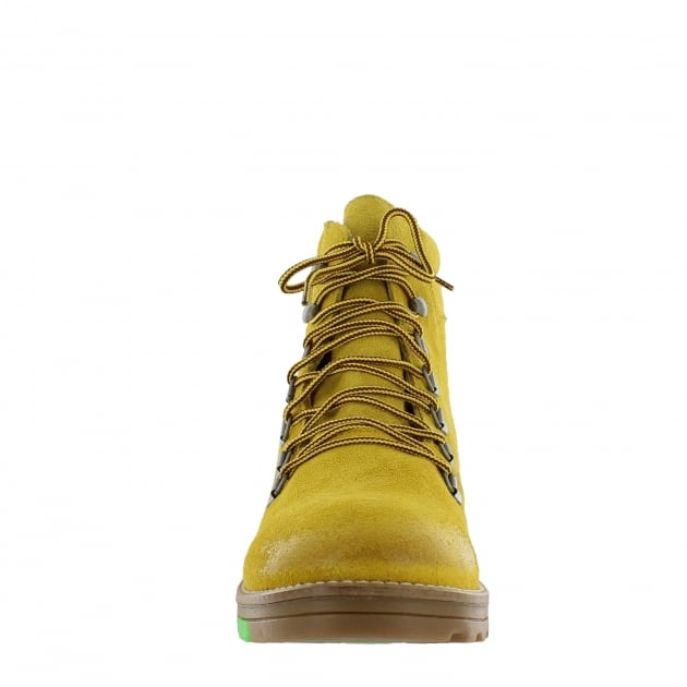Marta Jonsson Katrin Lace Up Northern Light Yellow Boots 1381