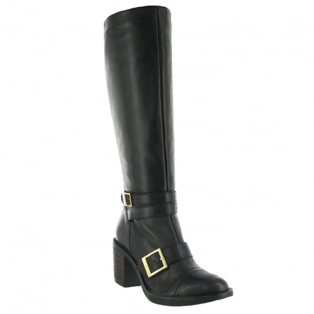 Marta Jonsson Knee High Boot With Buckles 6082L Black Boots