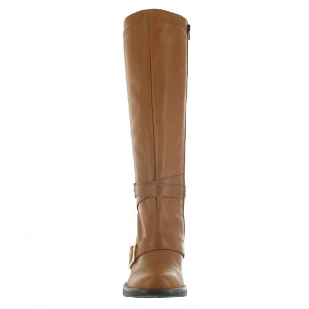 Marta Jonsson Knee High Boot With Buckles 6082L Tan