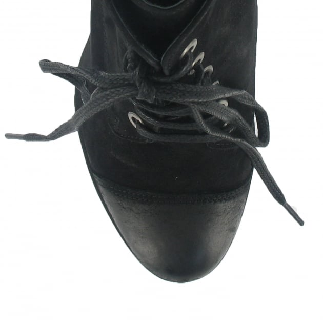Marta Jonsson Lace Up Ankle Boot 3067N Black Boots