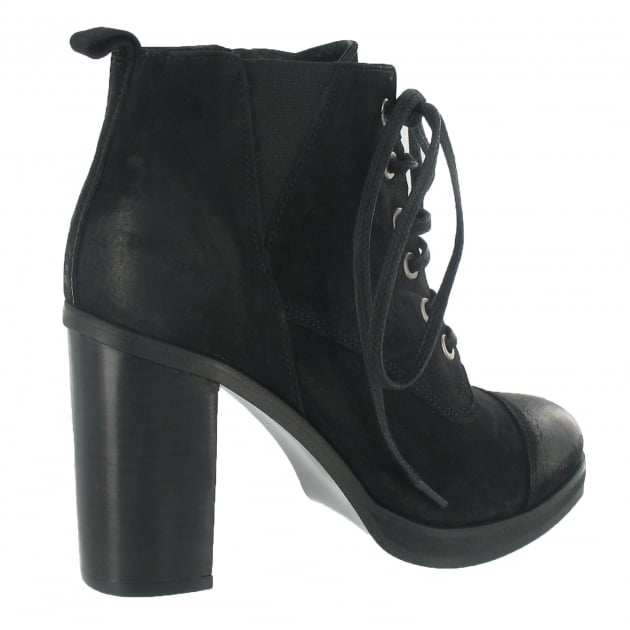 Lace Up Ankle Boot 3067N Black