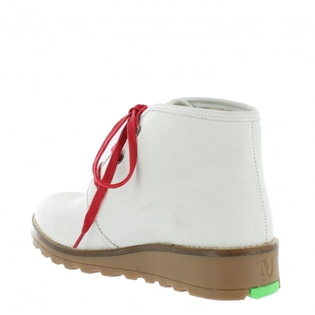 Marta Jonsson Lace Up Northern Light Boots 3871L White Boots