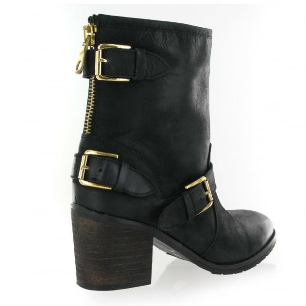 Marta Jonsson Leather Ankle Boot 2050L Black Boots