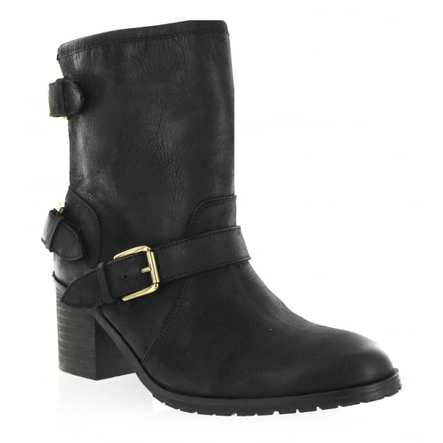 Leather Ankle Boot 2050L Black