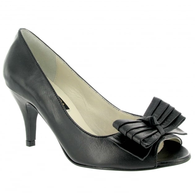 Marta Jonsson Leather Court Shoe 1622L Black